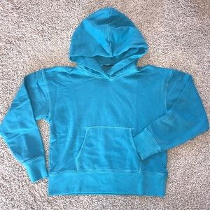 J Crew Shrunken Hoodie Pullover Cotton Blue NWOT